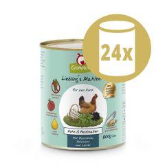 GranataPet - Nassfutter - Vorteilspaket Liebling's Mahlzeit 24 x 800g