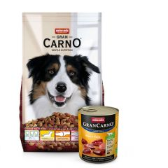 Animonda - GranCarno Premiumpaket Trockenfutter 12,5kg + Nassfutter 6 x 800g