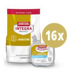 Animonda - Vorteilspaket Integra Protect Harnsteine Trockenfutter 1,2kg + Nassfutter 16 x 100g