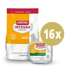 Animonda - Vorteilspaket Integra Protect Nieren Trockenfutter 1,2kg + Nassfutter 16 x 100g