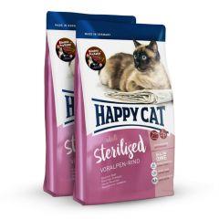 Happy Cat - Trockenfutter - Probe: 2 x 300g Happy Cat Sterilised Voralpen Rind Trockenfutter