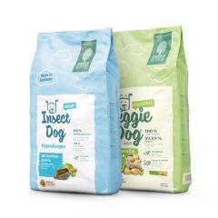 Green Petfood - Vorteilspaket VeggieDog grainfree & InsectDog hypoallergen 2 x 10kg