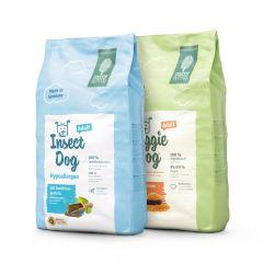 Green Petfood - Vorteilspaket VeggieDog Origin & Insectdog hypoallergen 2 x 10kg