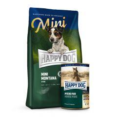 Happy Dog - Pferd Mini Vorteilspaket 4 kg Trockenfutter  + 6 x 800g Nassfutter