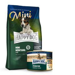 Happy Dog - Pferd Mini Vorteilspaket 4 kg Trockenfutter + 6 x 200g Nassfutter