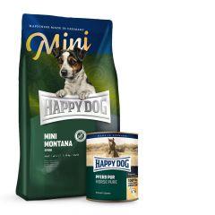 Happy Dog - Pferd Mini Vorteilspaket 4 kg Trockenfutter + 6 x 400g Nassfutter