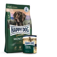 Happy Dog - Pferd Vorteilspaket 4 kg Trockenfutter + 6 x 400g Nassfutter