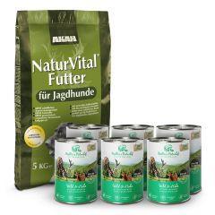 Akah - Trockenfutter - Vorteilspaket Natur Vital 14kg + Nassfutter 6 x 400g