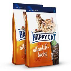 Happy Cat - Trockenfutter - Probe: 2 x 300g Atlantik-Lachs Trockenfutter