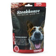 Fleischeslust - Hundesnack - Steakhouse Rinder Minis luftgetrocknet (getreidefrei)