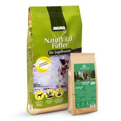 Akah - Trockenfutter - Vorteilspaket Natur Vital 14kg + Müller's Naturhof Jagdhundfutter 1,5kg geschenkt