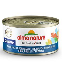 Almo Nature - Nassfutter - Cuisine Thunfisch, Huhn und Käse