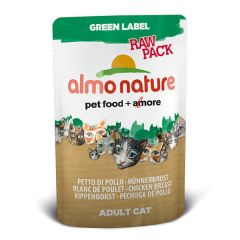 Almo Nature - Nassfutter - Green Label Raw Pack Hühnerbrust