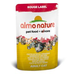 Almo Nature - Nassfutter - Rouge Label Hühnerfilet und Käse