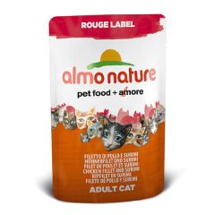 Almo Nature - Nassfutter - Rouge Label Hühnerfilet und Surimi