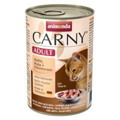 Animonda - Nassfutter - Carny Adult Huhn, Pute + Entenherzen (getreidefrei)