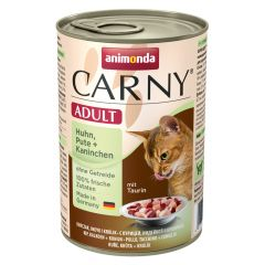 Animonda - Nassfutter - Carny Adult Huhn, Pute + Kaninchen (getreidefrei)