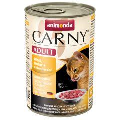 Animonda - Nassfutter - Carny Adult Rind, Huhn + Entenherzen (getreidefrei)