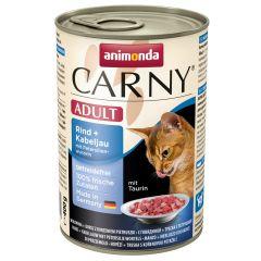 Animonda - Nassfutter - Carny Adult Rind + Kabeljau mit Petersilienwurzeln (getreidefrei)