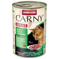 Animonda - Nassfutter - Carny Adult Rind, Pute + Kaninchen (getreidefrei)