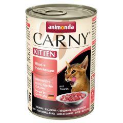 Animonda - Nassfutter - Carny Kitten Rind + Putenherzen (getreidefrei)