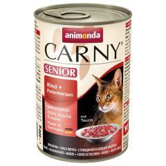 Animonda - Nassfutter - Carny Senior Rind + Putenherzen (getreidefrei)