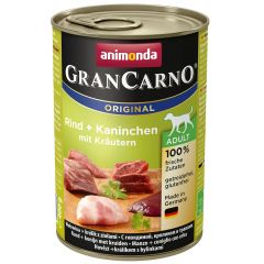 Animonda - Nassfutter - GranCarno Adult Rind + Kaninchen mit Kräuter (getreidefrei)