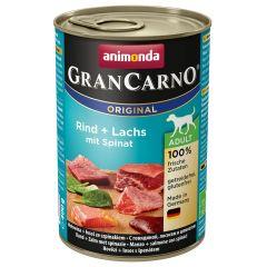 Animonda - Nassfutter - GranCarno Adult Rind + Lachs mit Spinat (getreidefrei)