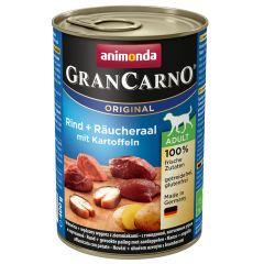 Animonda - Nassfutter - GranCarno Adult Rind + Räucheraal mit Kartoffeln (getreidefrei)