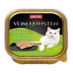 Animonda - Nassfutter - Vom Feinsten Adult mit Pute, Hühnchenbrust + Kräuter (getreidefrei)