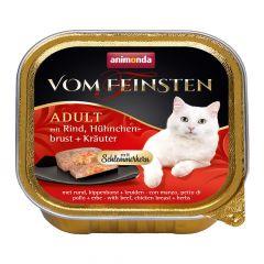 Animonda - Nassfutter - Vom Feinsten Adult mit Rind, Hühnchenbrust + Kräuter (getreidefrei)