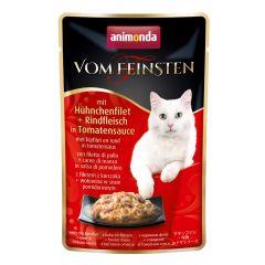 Animonda - Nassfutter - Vom Feinsten Adult mit Hühnchenfilet + Rindfleisch in Tomatensauce