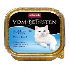 Animonda - Nassfutter - Vom Feinsten Kastrierte Katzen Pute + Forelle (getreidefrei)