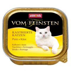 Animonda - Nassfutter - Vom Feinsten Kastrierte Katzen Pute + Käse (getreidefrei)