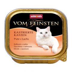 Animonda - Nassfutter - Vom Feinsten Kastrierte Katzen Pute + Lachs (getreidefrei)