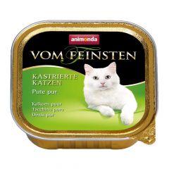 Animonda - Nassfutter - Vom Feinsten Kastrierte Katzen Pute pur (getreidefrei)