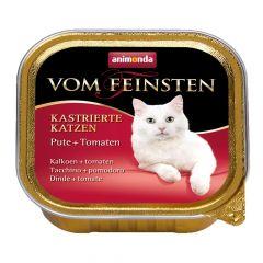 Animonda - Nassfutter - Vom Feinsten Kastrierte Katzen Pute + Tomaten (getreidefrei)