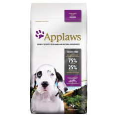 Applaws Dog - Trockenfutter - Puppy Huhn für große Rassen (getreidefrei)