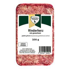 Barfer's Wellfood - Hundefutter - Barfer's Choice Rinderherz mit Fett gewolft