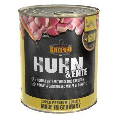 Belcando - Nassfutter - Huhn & Ente mit Hirse & Karotten 6 x 800g