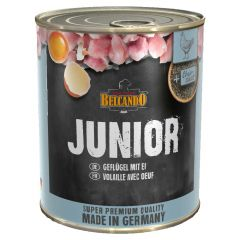 Belcando - Nassfutter - Junior mit Geflügel & Ei 6 x 800g
