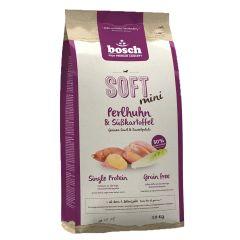 Bosch - Trockenfutter -  Soft Mini Perlhuhn und Süßkartoffel (getreidefrei)