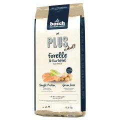 Bosch - Trockenfutter - Plus Adult Forelle und Kartoffel (getreidefrei)