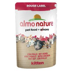 Almo Nature - Nassfutter - Rouge Label Kitten mit Huhn