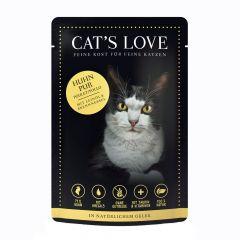 Cat's Love - Nassfutter - Classic Huhn Pur mit Leinöl und Löwenzahn (getreidefrei)