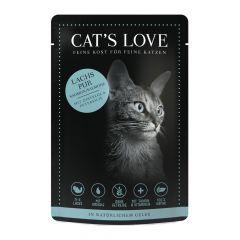 Cat's Love - Nassfutter -  Classic Lachs Pur mit Distelöl und Petersilie (getreidefrei)
