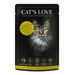 Cat's Love - Nassfutter -  Mix Kalb und Truthahn mit Katzenminze und Leinöl (getreidefrei)