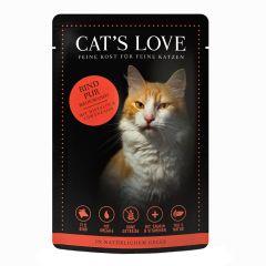 Cat's Love - Nassfutter - Classic Rind Pur mit Distelöl und Löwenzahn (getreidefrei)