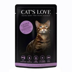 Cat's Love - Nassfutter -  Mix Lachs und Huhn mit Petersilie und Lachsöl (getreidefrei)