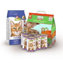 Cat's Best - Katzenstreu - Mixpaket Öko Plus 5l + GranataPet Nassfutter 6 x 400g + Trockenfutter 2kg